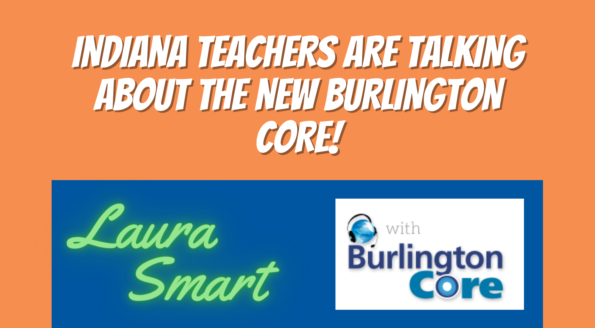 Indiana Teachers are talking about the NEW Burlington Core!